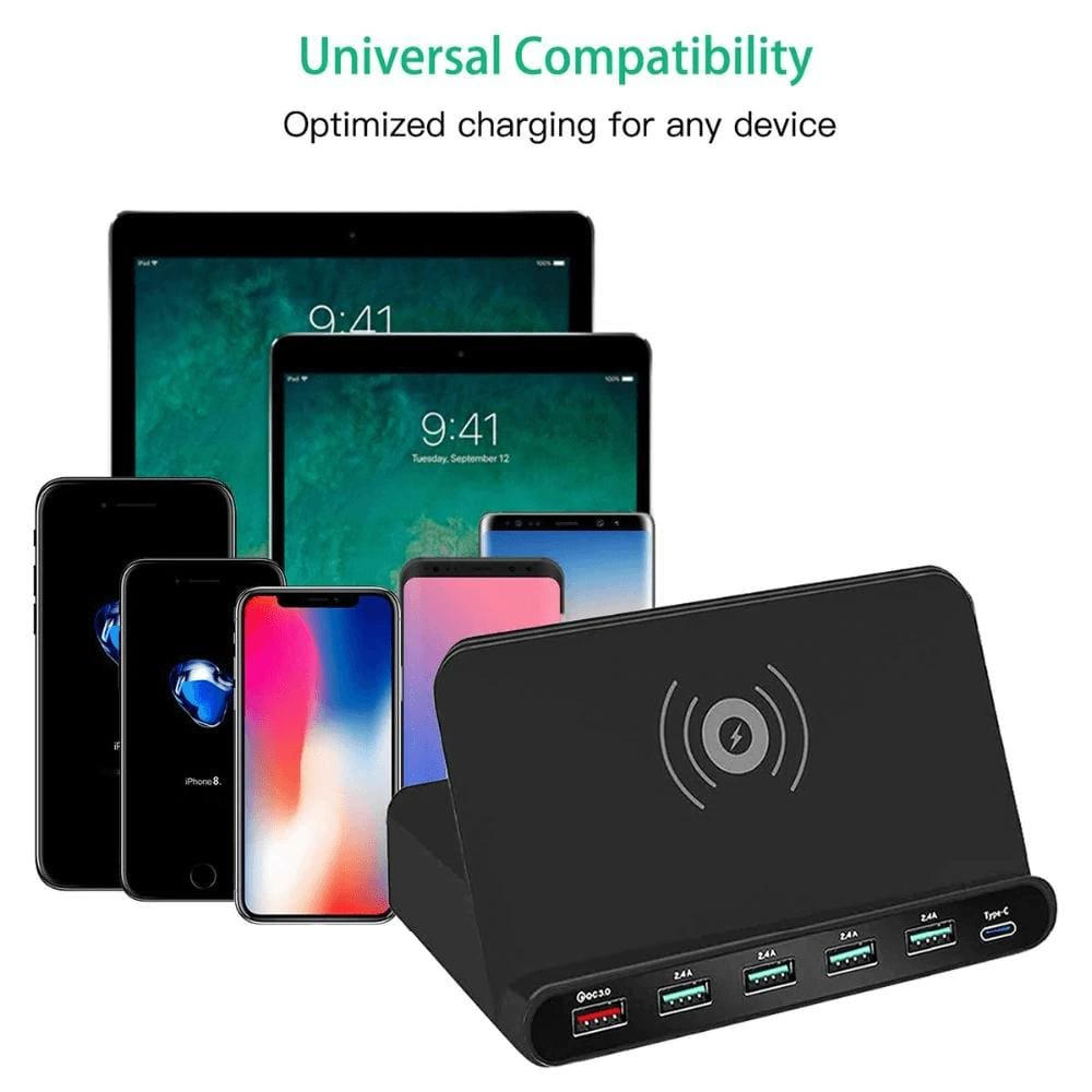 Quick Charge 3.0 USB Qi Fast Wireless Charging Dock Station iPhone Samsung Pic7