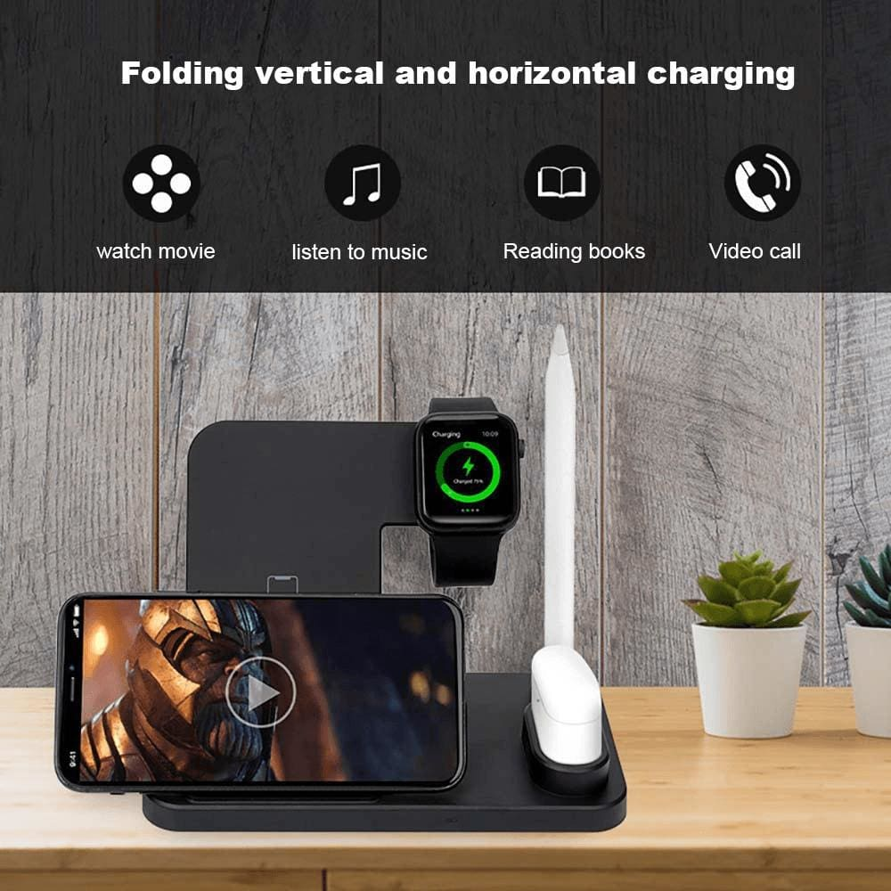 Wireless Charger Charging Stand For Apple Watch iPhone AirPods Samsung Fast QI  Pic8