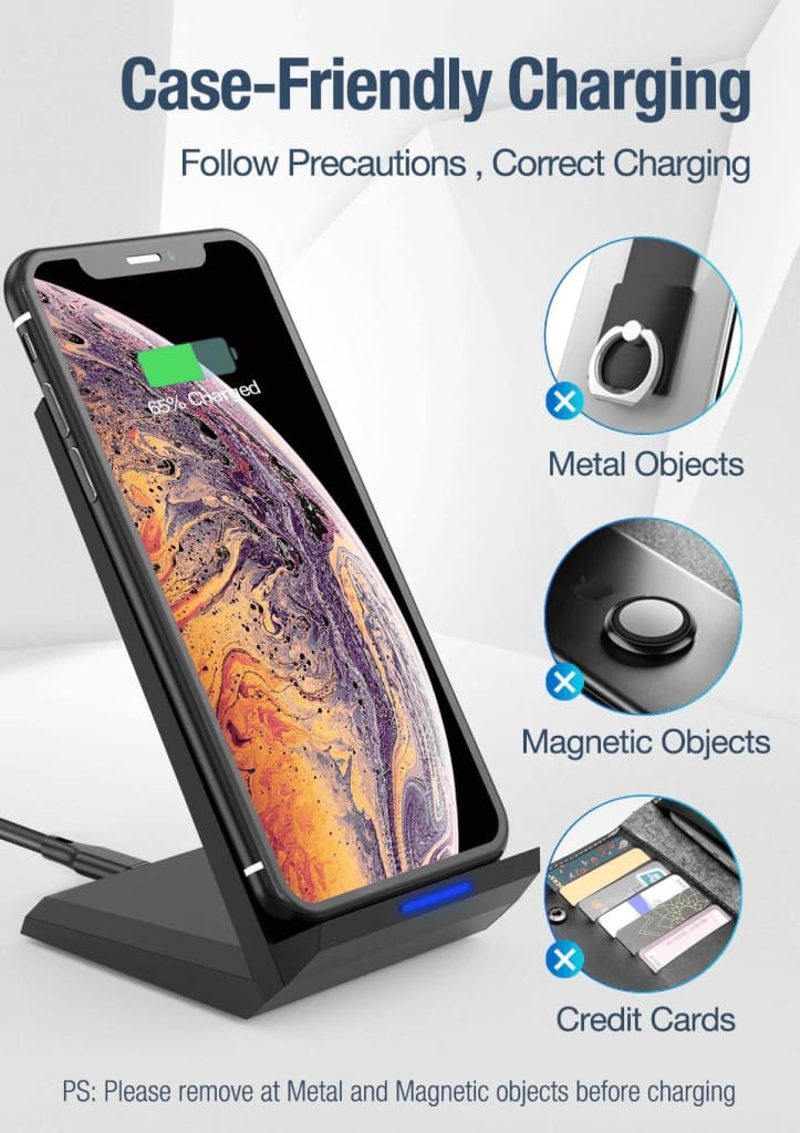 15W Qi Quick Wireless Charger QC 3.0 Fast Charging Stand For iPhone Samsung Pic8