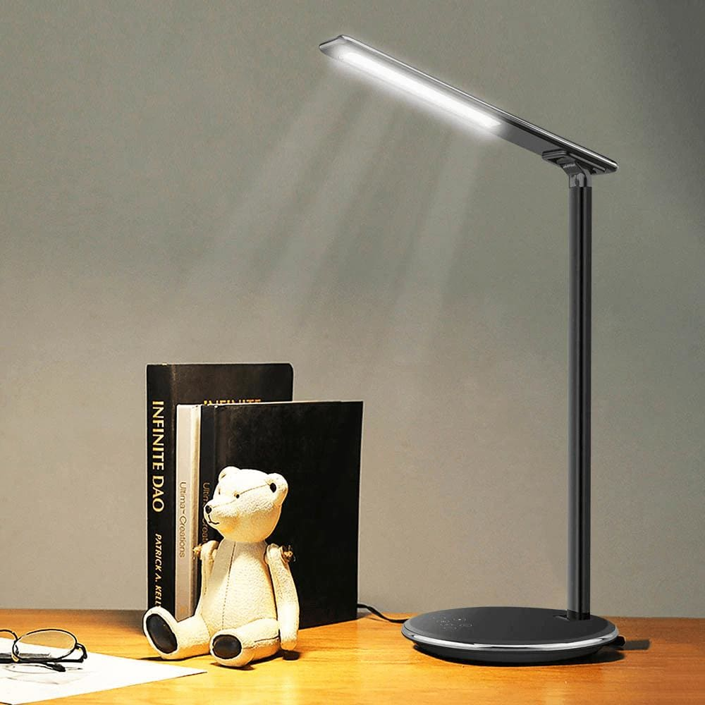 2 In 1 LED Desk Lamp Night Light Qi Fast Wireless Charger 10W for iPhone Samsung Pic8
