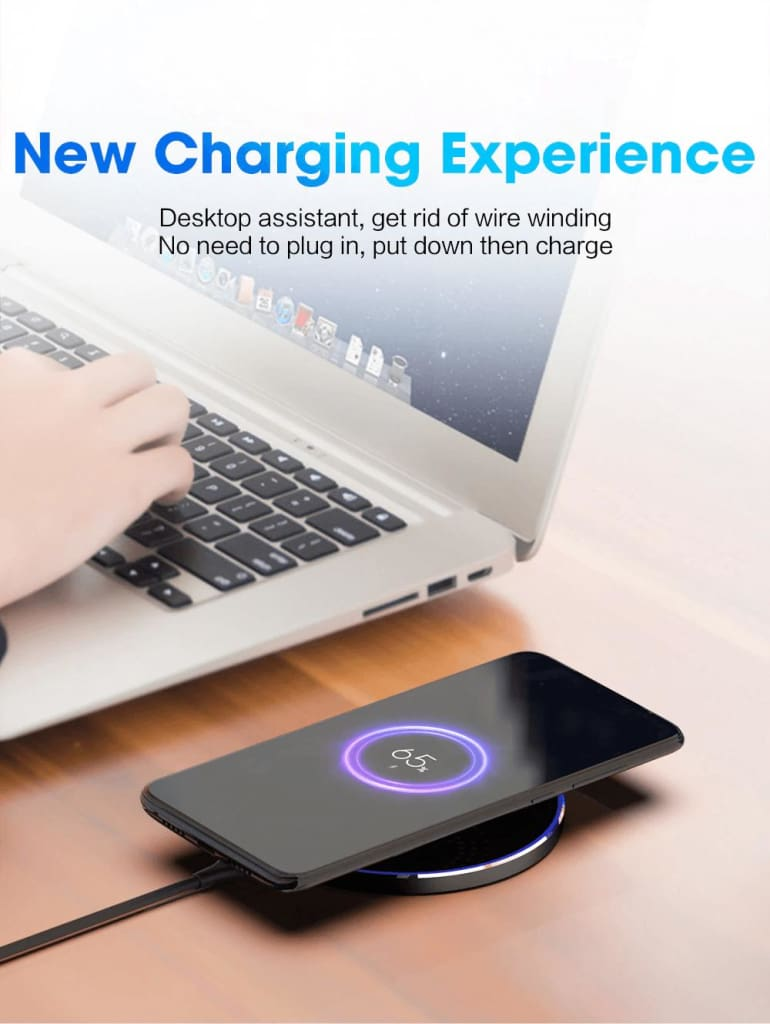 Qi Wireless Charger USB C 15W Fast Charging Pad Quick Charge For iPhone Samsung Pic8