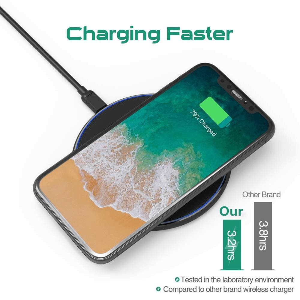 Fast Qi Wireless Charger For iPhone X XS Max XR 8 Plus Samsung S8 S9 S10 Note 9 Pic8