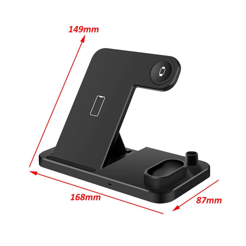 Wireless Charger Charging Stand For Apple Watch iPhone AirPods Samsung Fast QI  Pic9