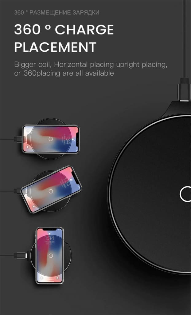 Qi Fast Wireless Charger 10W/7.5W QC 3.0 for iPhone 11 X XR XS Max Samsung Pic9