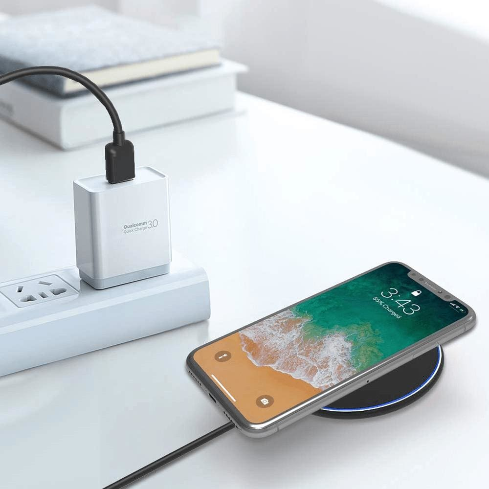Fast Qi Wireless Charger For iPhone X XS Max XR 8 Plus Samsung S8 S9 S10 Note 9 Pic9