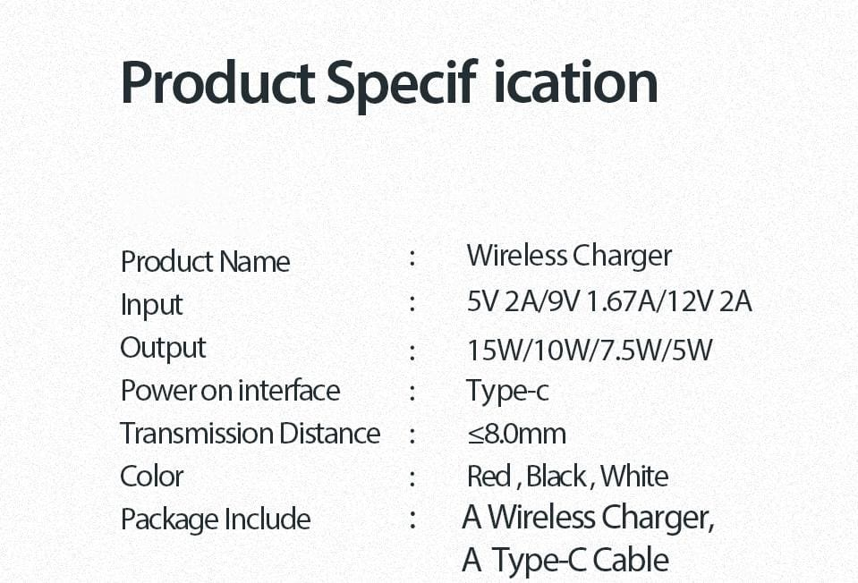 15W QI Quick Charging Wireless Charger USB C 10W QC 3.0 For iPhone Samsung Pic10