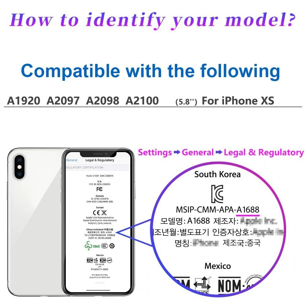 Compatible with iPhone XS