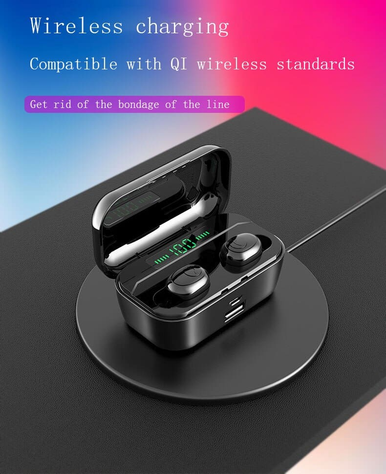 G02 TWS 5.0 Bluetooth Stereo Wireless Earphones IPX7 Waterproof 3300mAh Sport headset