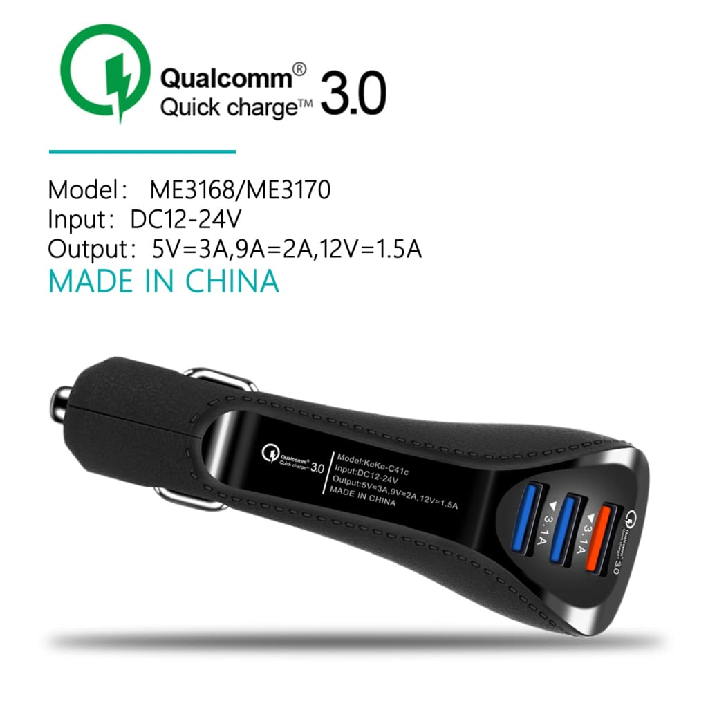 QC Quick Charge 3.0 Dual Car Charger Adapter Auto Mobile Phone Charger