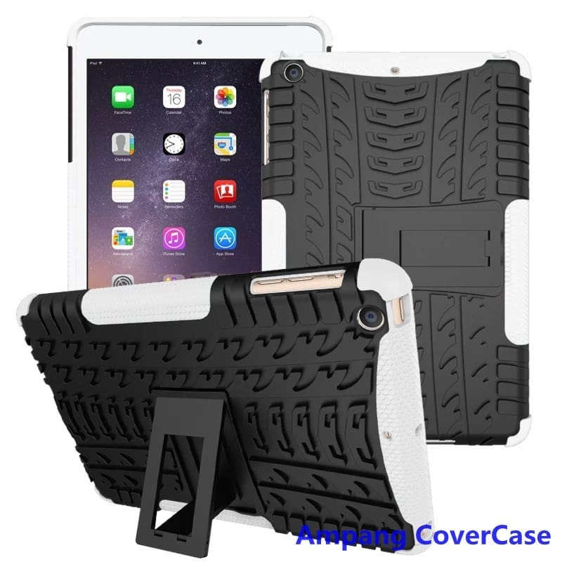 Tire Pattern Armor Hybrid TPU+PC Silicone Shell Cover Case for Apple iPad mini 1 2 3