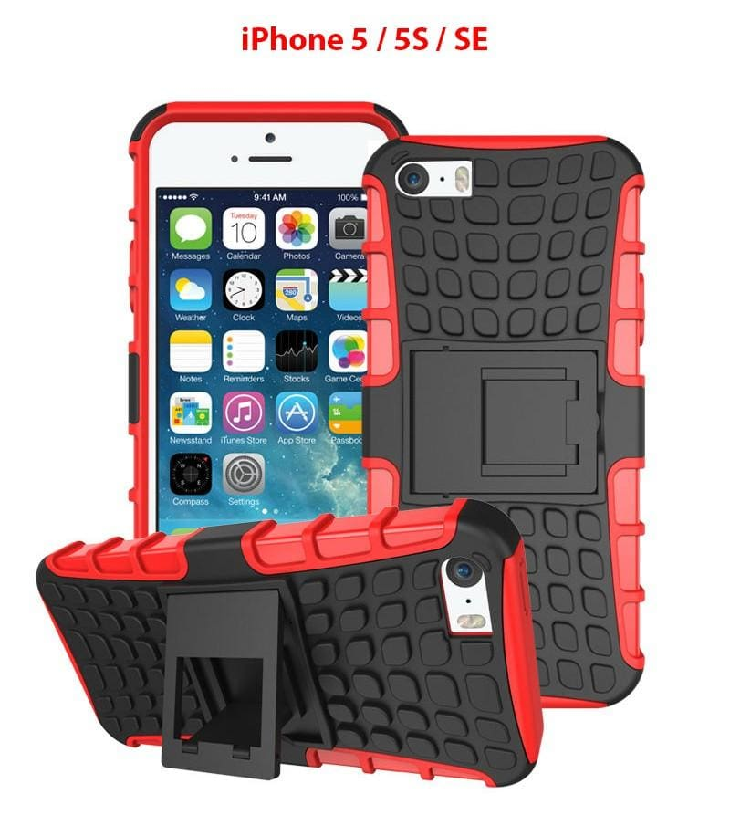 Heavy Duty Armor Phone Case Cover with Stand for iPhone 5 / 5S / SE