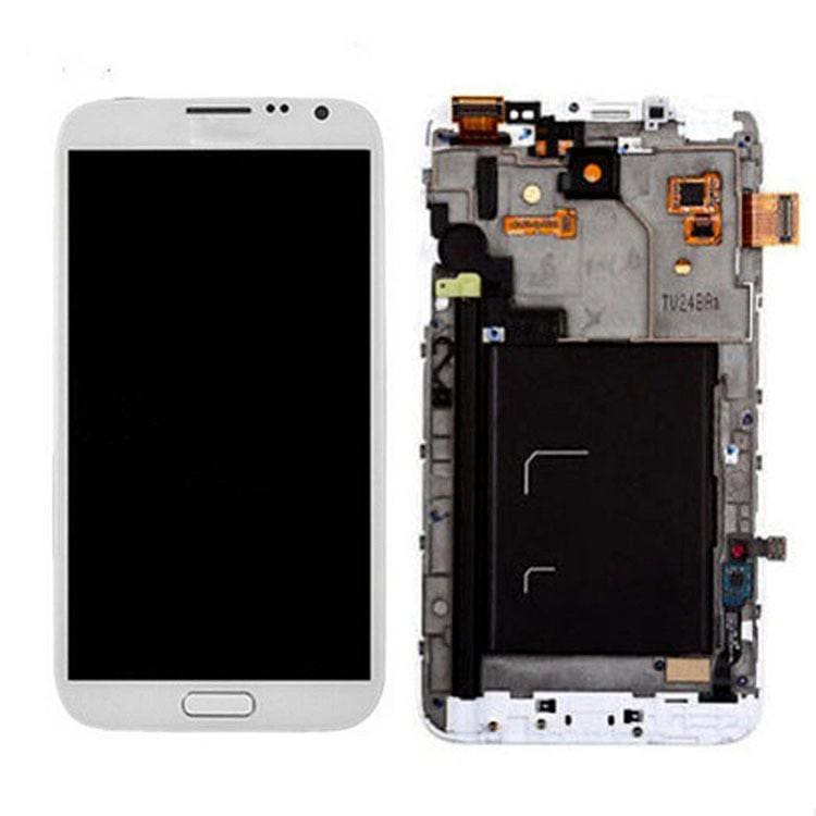 Samsung Galaxy Note 1 LCD with Frame White Pic1