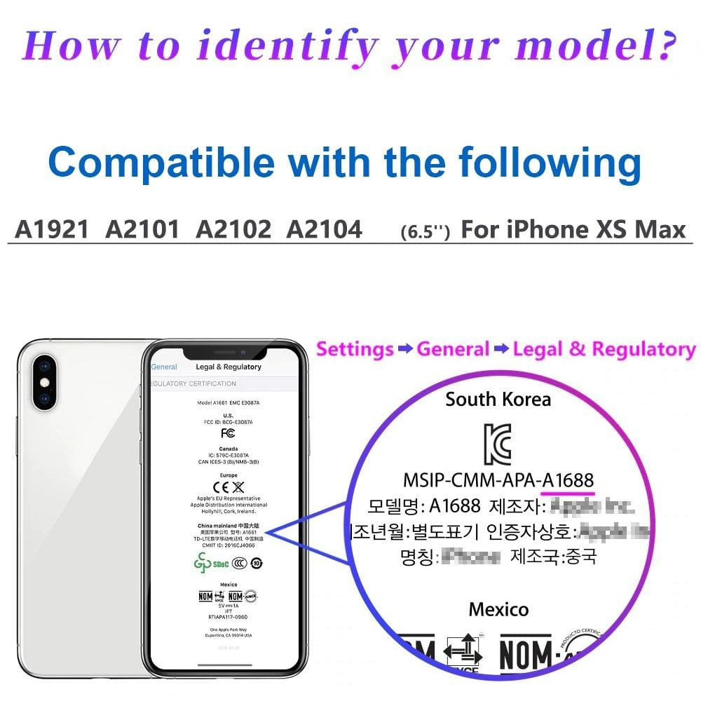 Compatible with iPhone XS Max