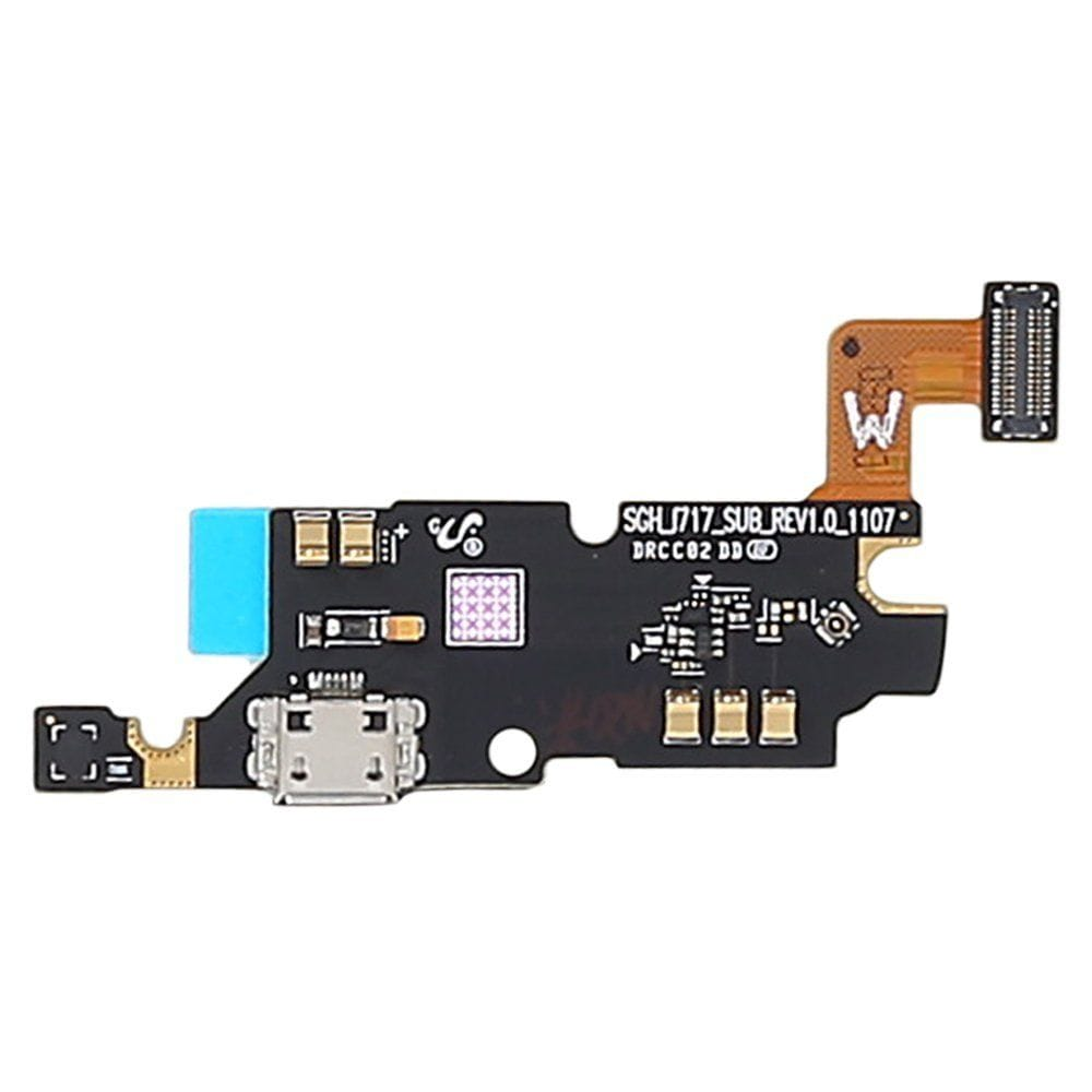Charging port flex cable and microphone for Samsung Galaxy Note 1 SGH-I717 Pic3