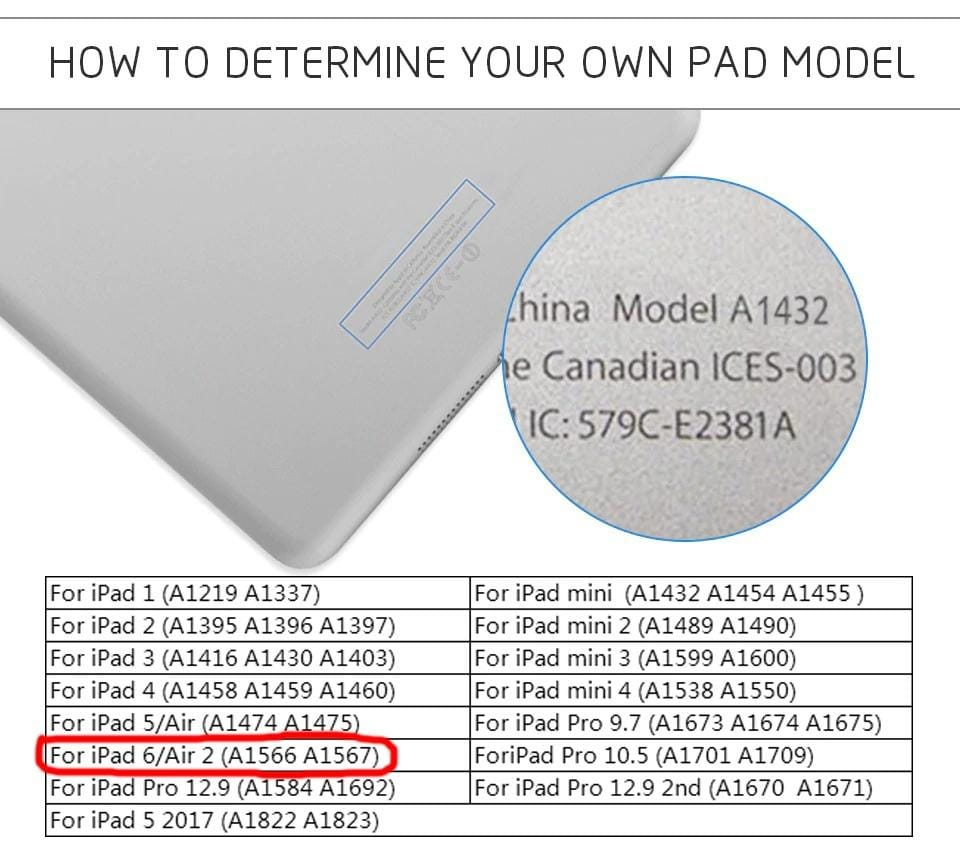 Compatible with iPad Air 2