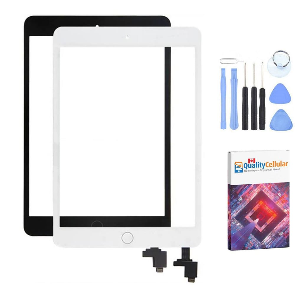 Touch Screen Digitizer + IC + Home Button for iPad Mini 1 & 2 - Black / White
