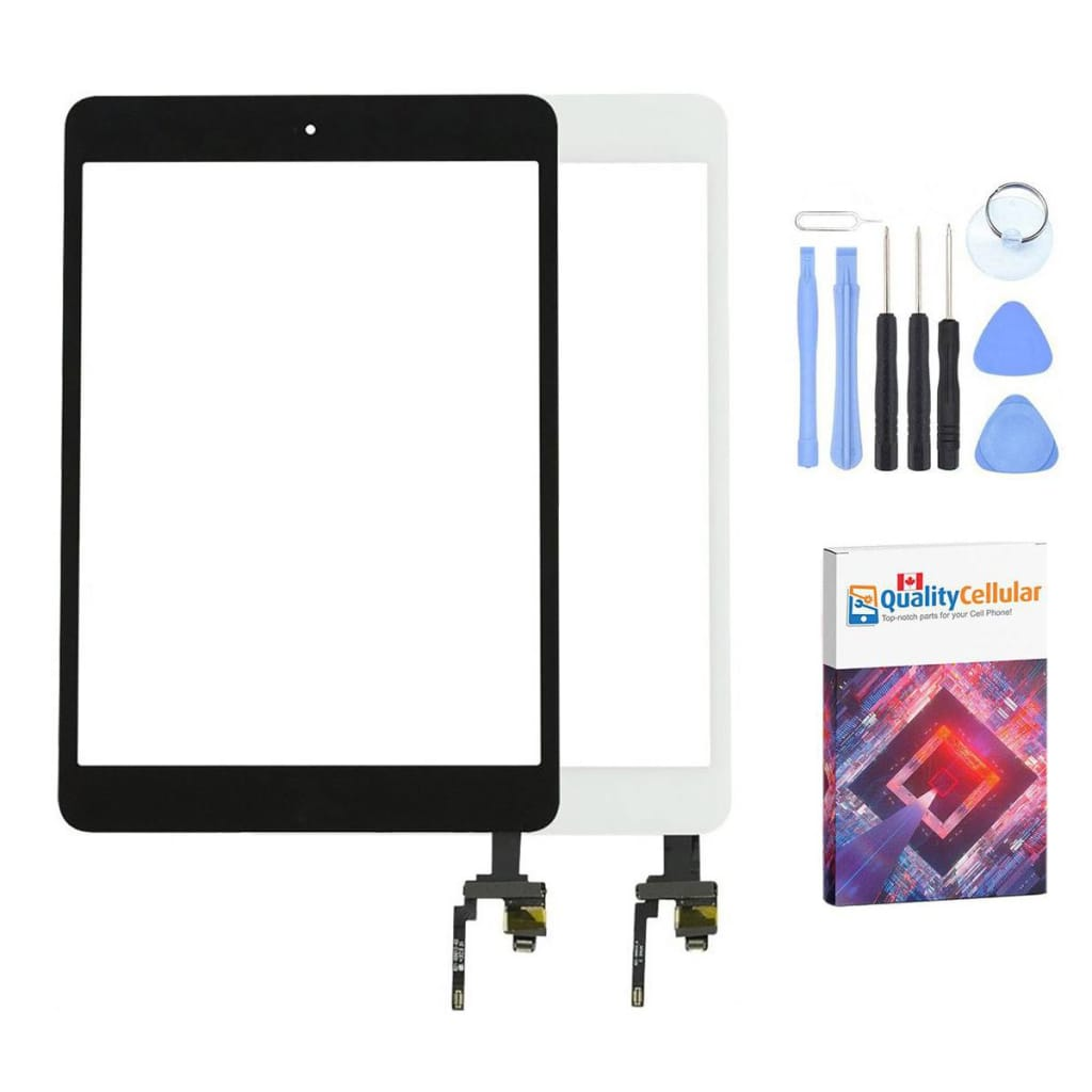 Touch Screen Digitizer + IC Connector for iPad Mini 3 A1599 A1600 Black / White