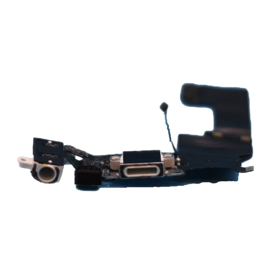 New White iPhone 5S Charging Port + Microphone + Audio Jack Flex Cable Pic2