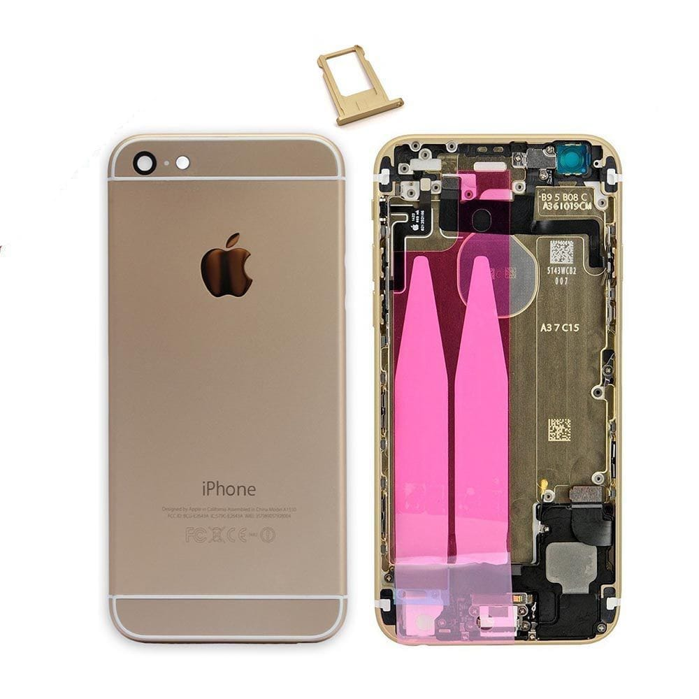Gold Back Housing Mid Frame Assembly with Parts for iPhone 6 A1549 A1586 A1589 Pic0