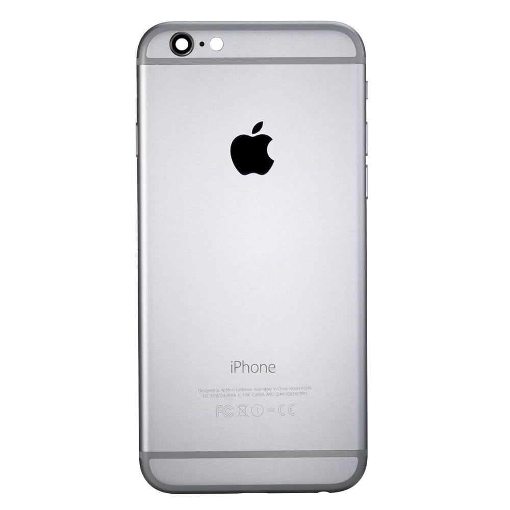 Gray Back Housing Mid Frame Assembly Replacement with Parts for iPhone 6 A1549 A1586 A1589 Pic1