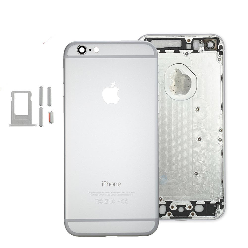 Silver Back Housing Mid Frame Assembly Replacement iPhone 6 A1549 A1586 A1589 Pic0