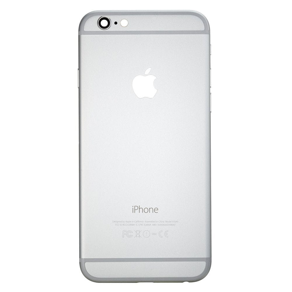Silver Back Housing Mid Frame Assembly with Parts for iPhone 6 A1549 A1586 A1589 Pic1