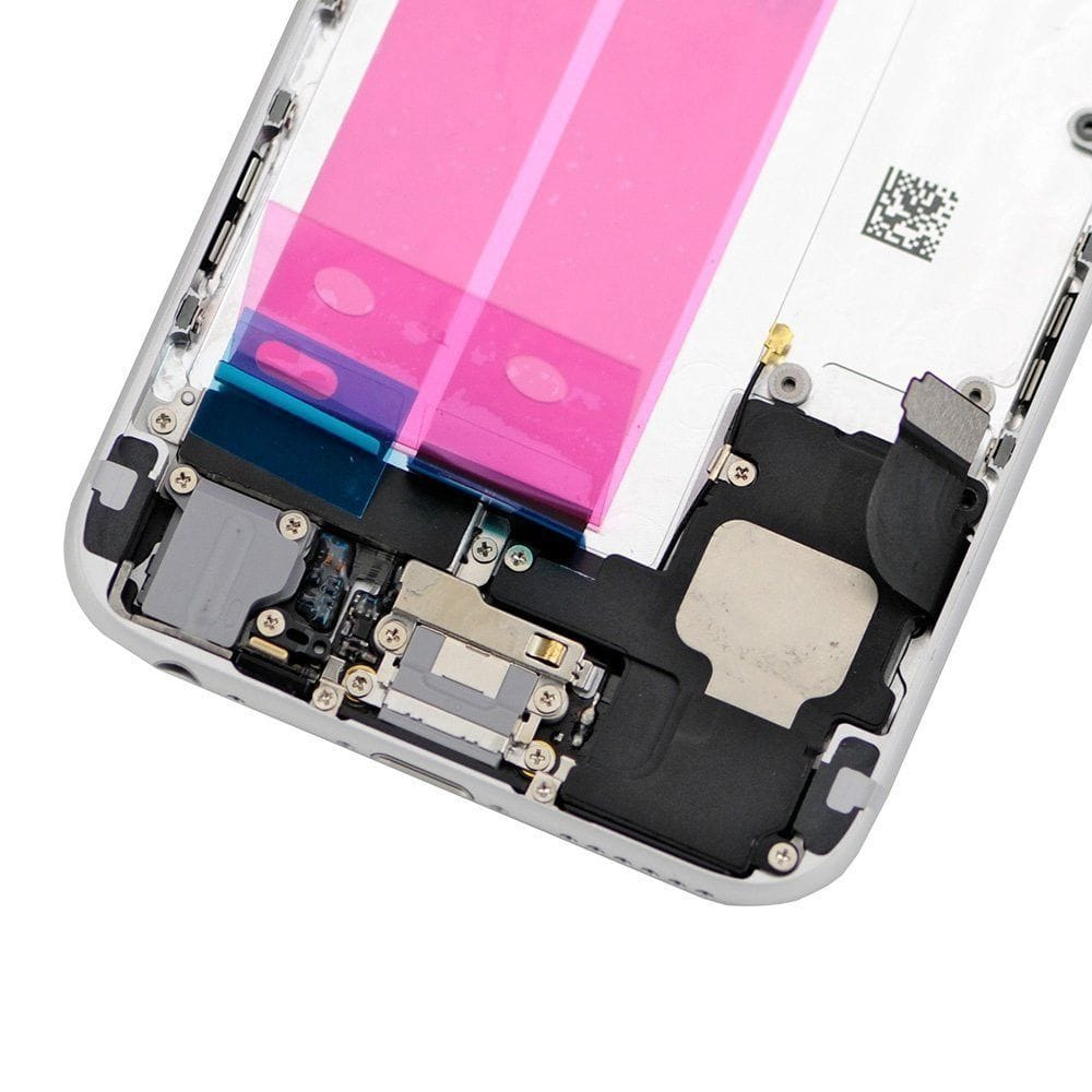 Silver Back Housing Mid Frame Assembly with Parts for iPhone 6 A1549 A1586 A1589 Pic3