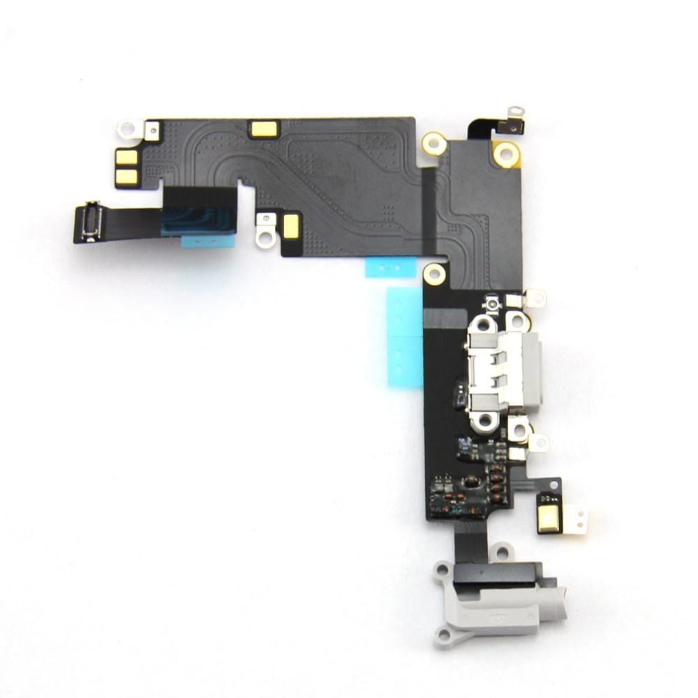 Gray Charging Port Headphone Audio Jack Flex for iPhone 6 Plus A1522 A1524 A1593 Pic1