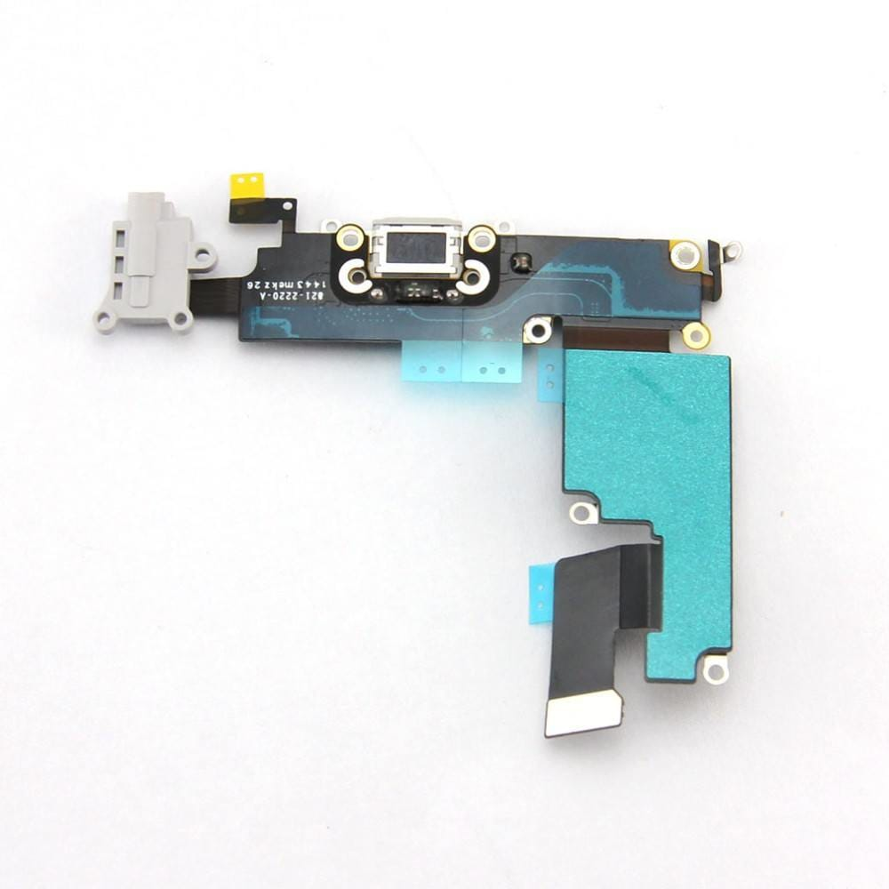 Gray Charging Port Headphone Audio Jack Flex for iPhone 6 Plus A1522 A1524 A1593 Pic2