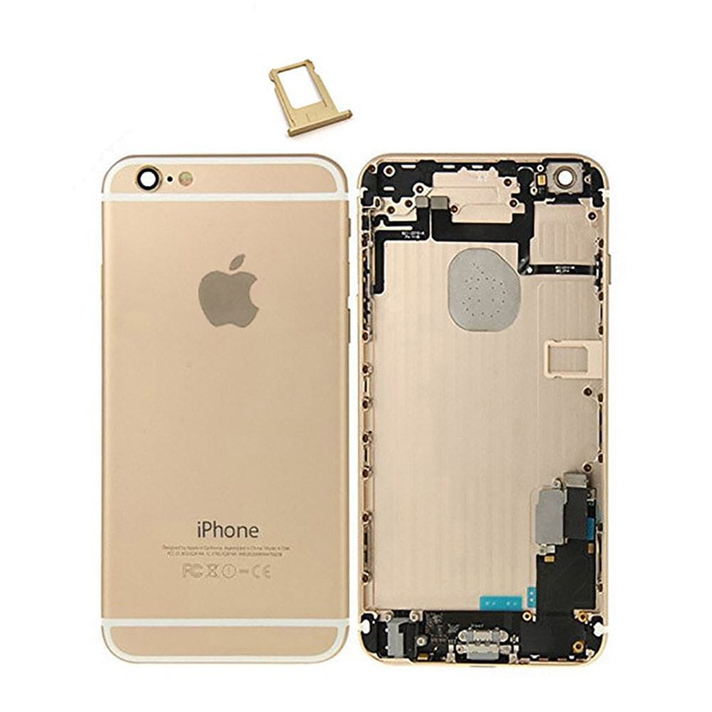 Gold Back Housing Mid Frame Assembly + Parts for iPhone 6 Plus A1522 A1524 A1593 Pic0