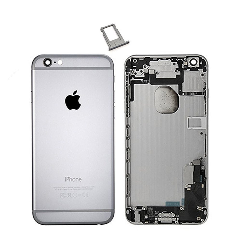 Gray Back Housing Mid Frame Assembly + Parts for iPhone 6 Plus A1522 A1524 A1593 Pic0