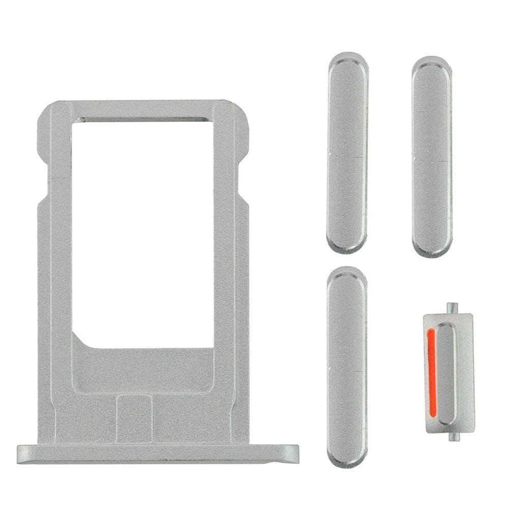 Silver Back Housing Mid Frame Assembly for iPhone 6 Plus A1522 A1524 A1593 Pic5
