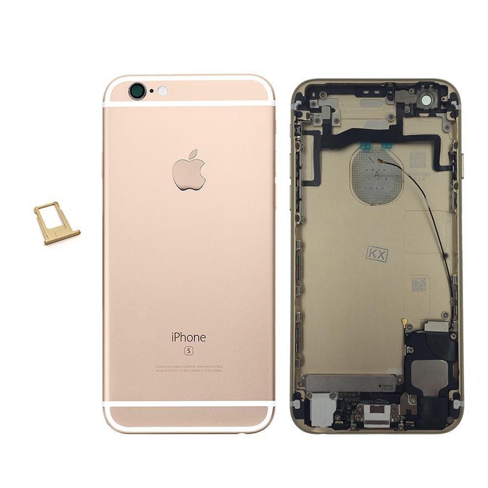 Gold Back Housing Mid Frame with Cables, Parts for iPhone 6S A1633 A1688 A1700 Pic0