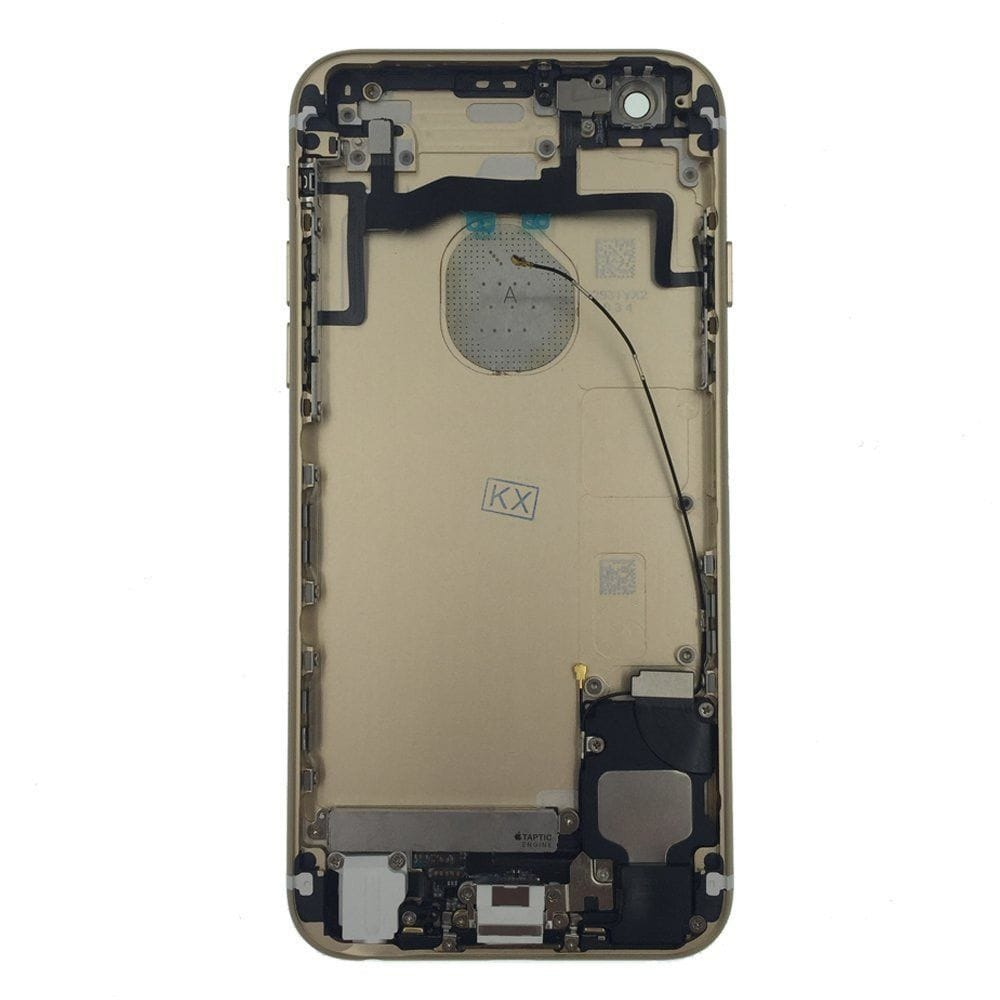 Gold Back Housing Mid Frame with Cables, Parts for iPhone 6S A1633 A1688 A1700 Pic1