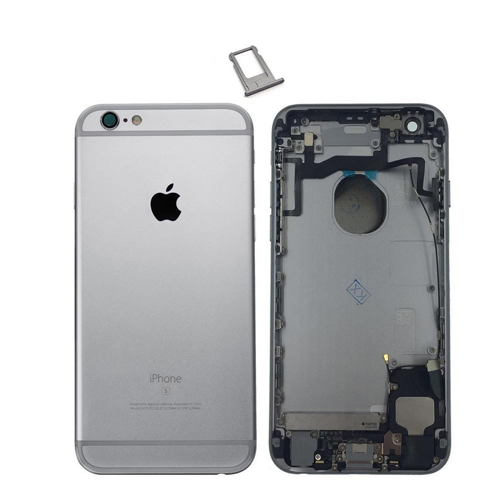 Space Gray Back Housing Mid Frame Cables, Parts for iPhone 6S A1633 A1688 A1700 Pic0