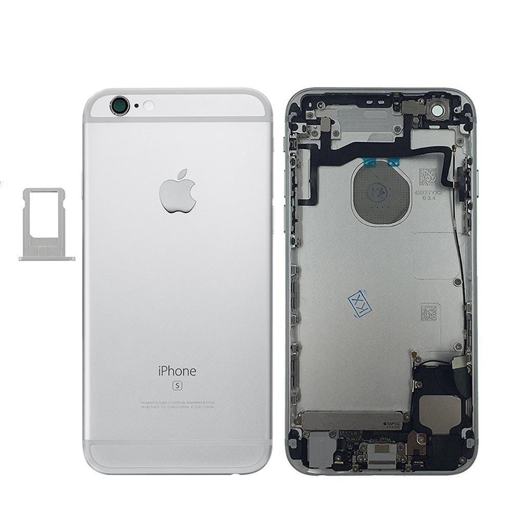Silver Back Housing Mid Frame with Cables, Parts for iPhone 6S A1633 A1688 A1700 Pic0