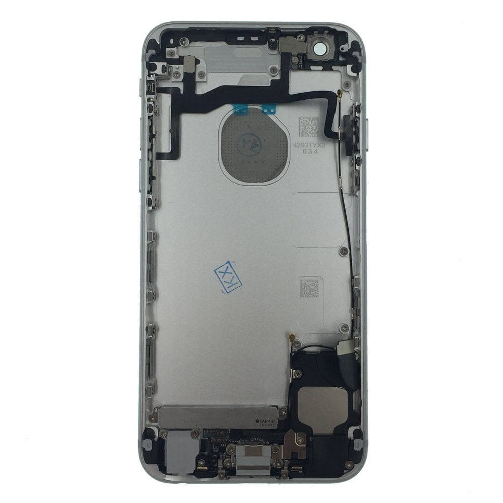 Silver Back Housing Mid Frame with Cables, Parts for iPhone 6S A1633 A1688 A1700 Pic1