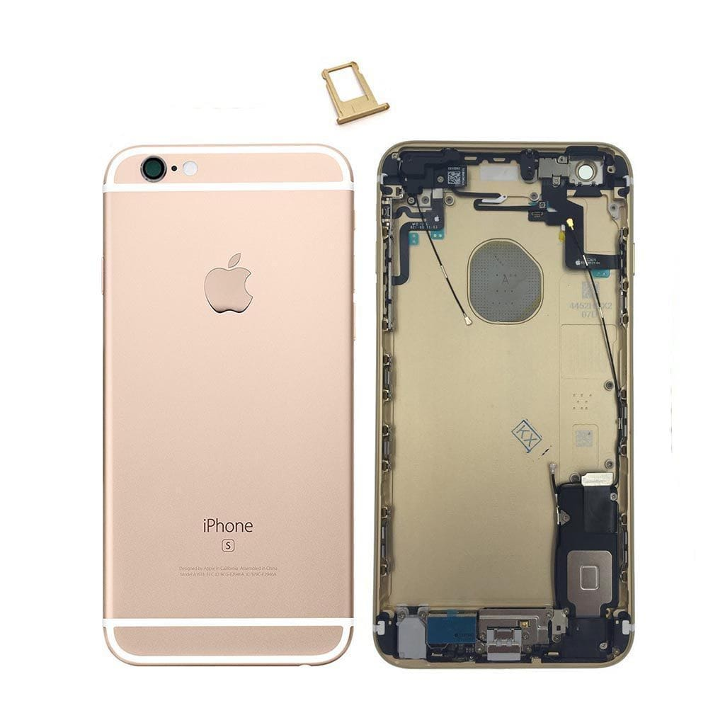 Gold Back Housing Mid Frame Assembly with Parts iPhone 6S Plus A1634 A1687 A1699 Pic0