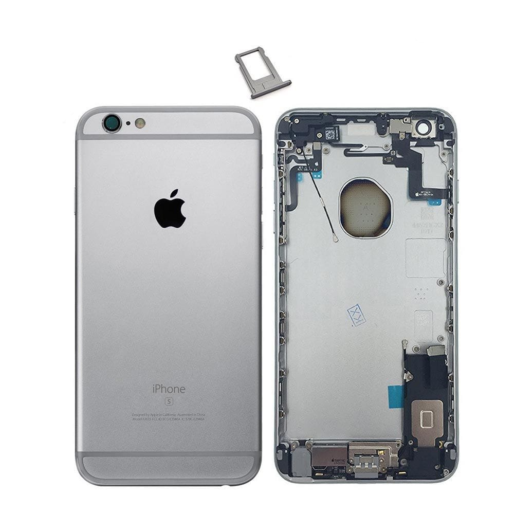 Gray Back Housing Mid Frame Assembly with Parts iPhone 6S Plus A1634 A1687 A1699 Pic0