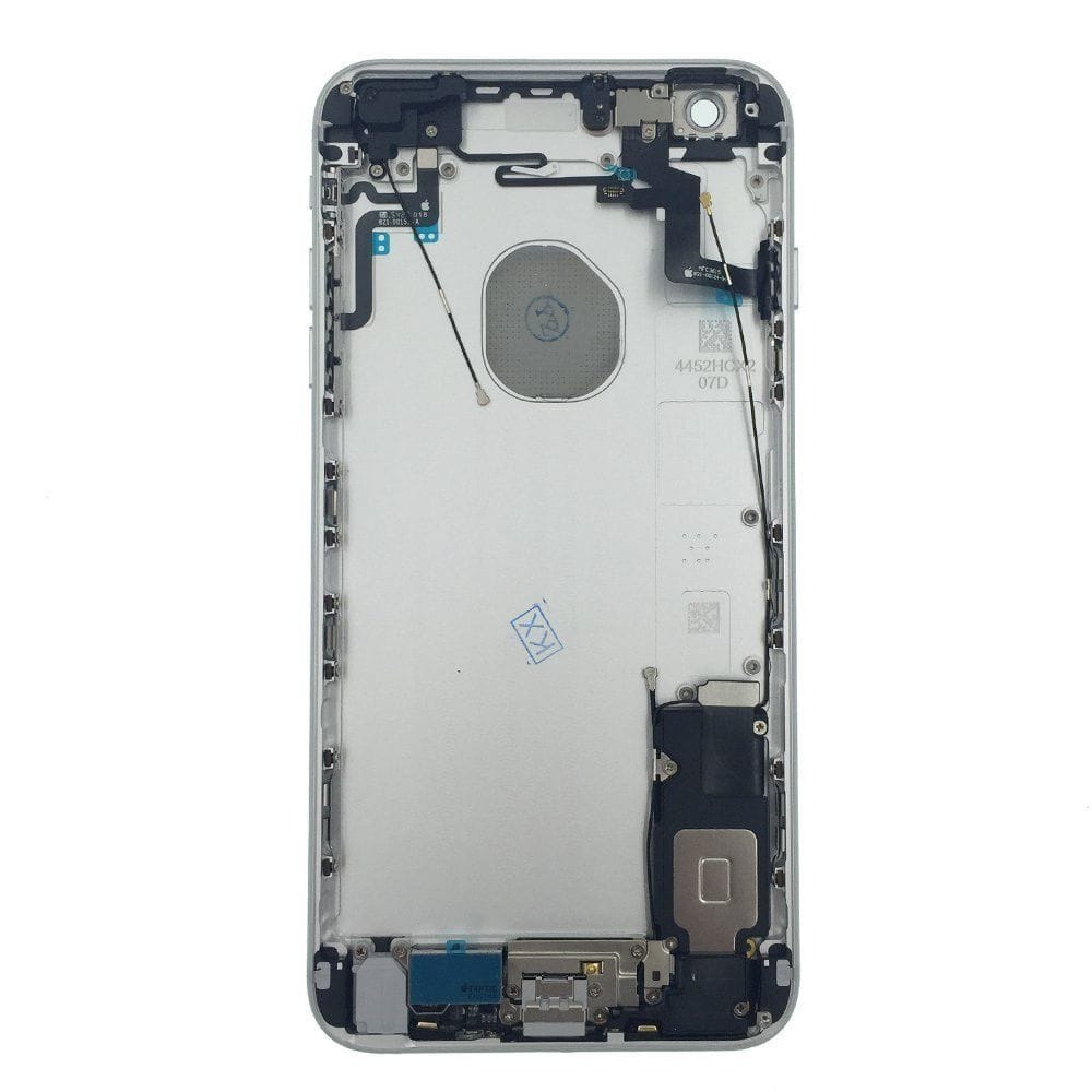 Silver Back Housing Mid Frame Assembly + Parts iPhone 6S Plus A1634 A1687 A1699 Pic1