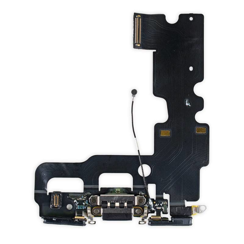 Black Charging Dock Port Assembly Flex Cable  for iPhone 7 A1660 A1778 A1779 Pic1
