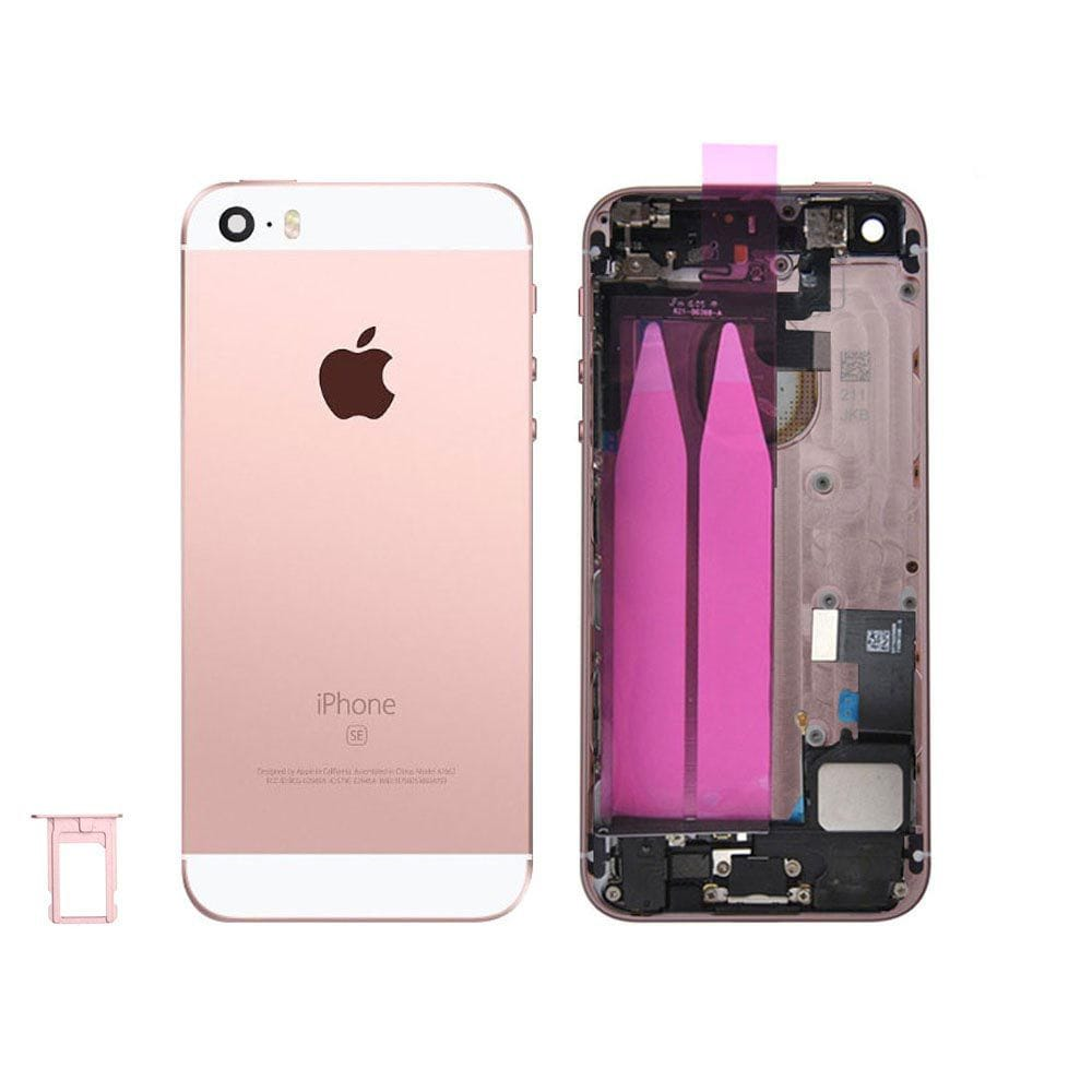 Rose Gold Back Housing Mid Frame with Cables, Parts iPhone SE A1662 A1723 A1724 Pic0
