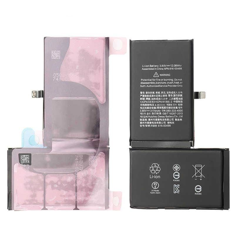 New 3174 mAh Battery with Adhesive for iPhone XS mAX A1921 A2101 A2102 A2104 Pic2
