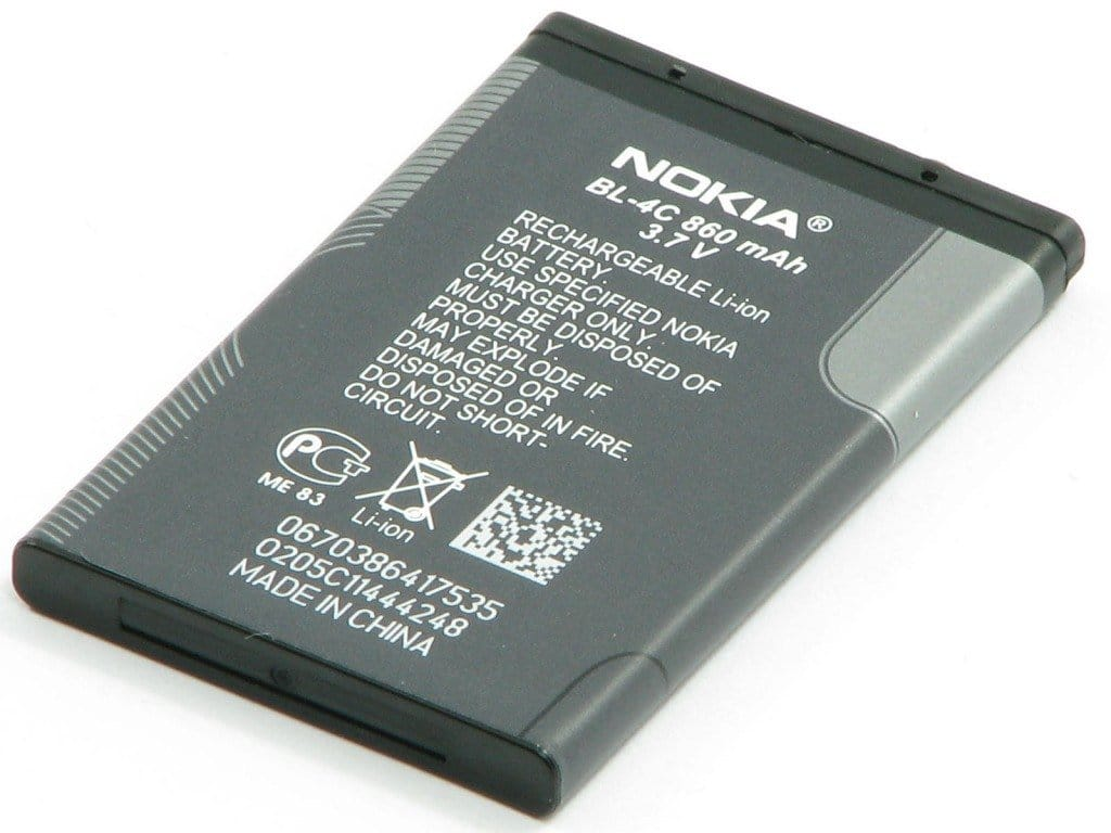 Original Nokia BL-4C Battery 890 mAh for 3500 6136 6170 6260 6300 6301 7200 7270 Pic1