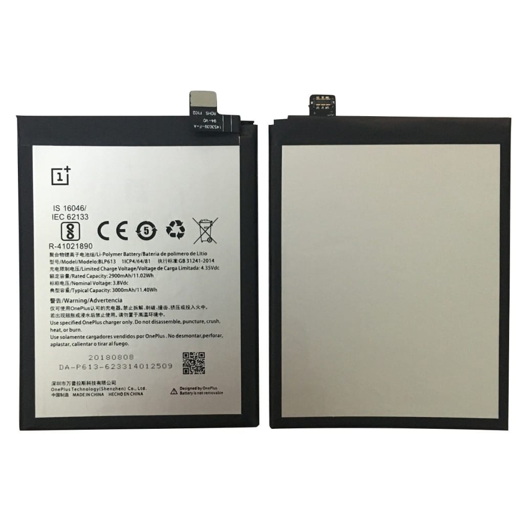 Original BLP613 3000 mAh Battery Replacement for OnePlus 3 A3000 A3003 Pic5