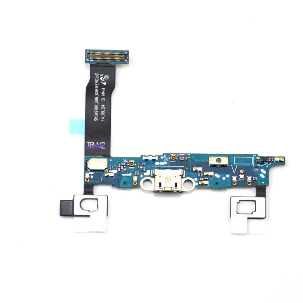Charging port flex cable and microphone for Samsung Galaxy Note 4 SM-N910V Pic0