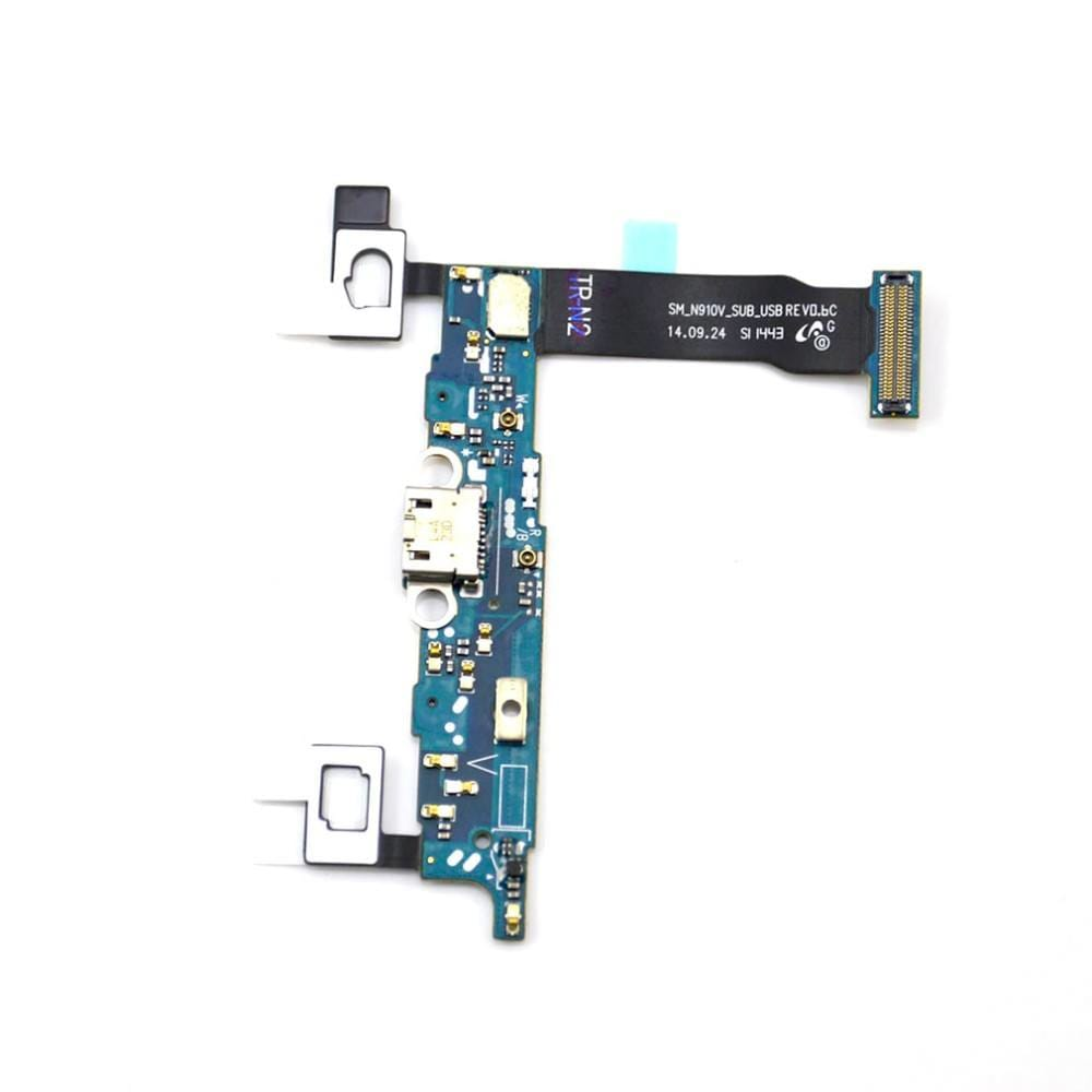 Charging port flex cable and microphone for Samsung Galaxy Note 4 SM-N910V Pic3