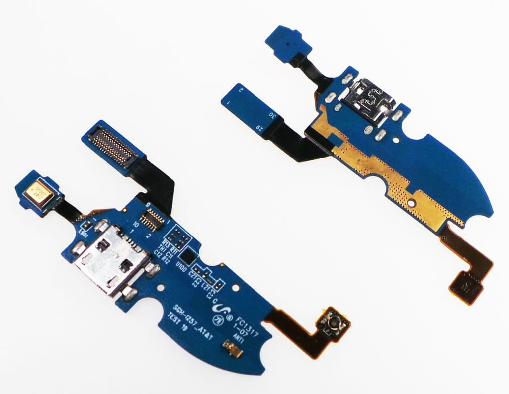 Charging port flex cable with microphone for Samsung Galaxy S4 Mini SGH-i257 Pic4