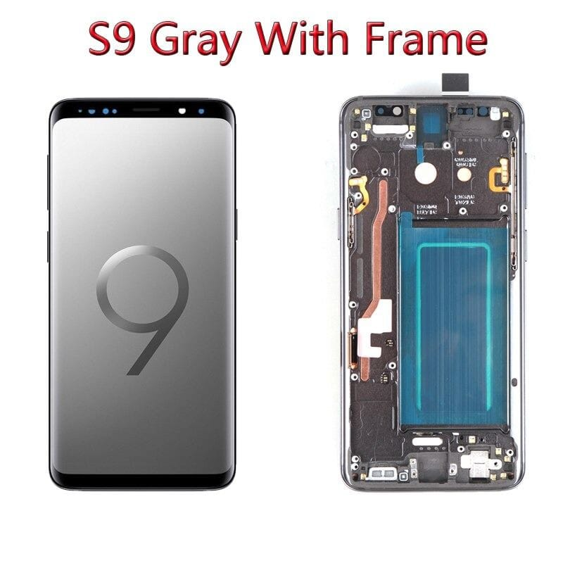 LCD Touch Screen Digitizer Display with Frame for Samsung Galaxy S9 SM-G960 Pic4