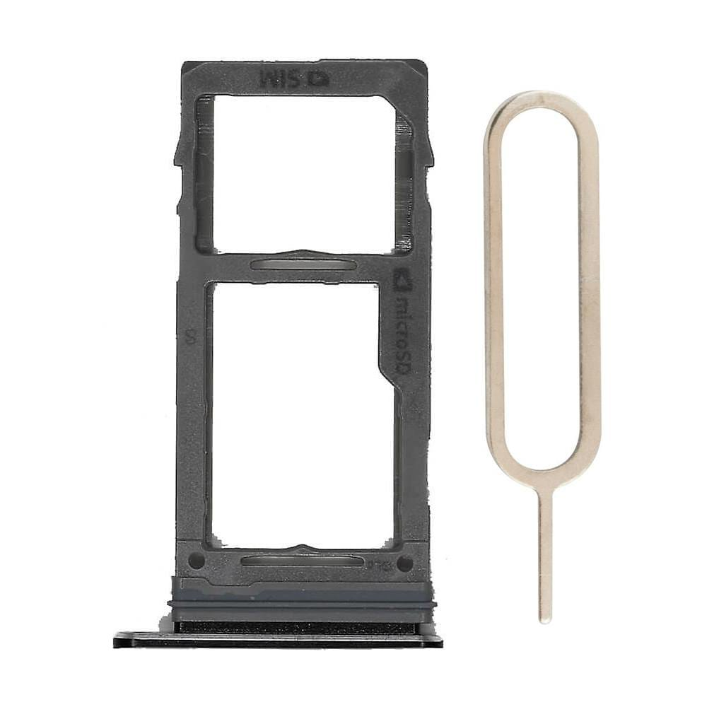 Black SIM Card Tray Holder with Eject Tool for Samsung Galaxy S9 / S9 Plus Pic0